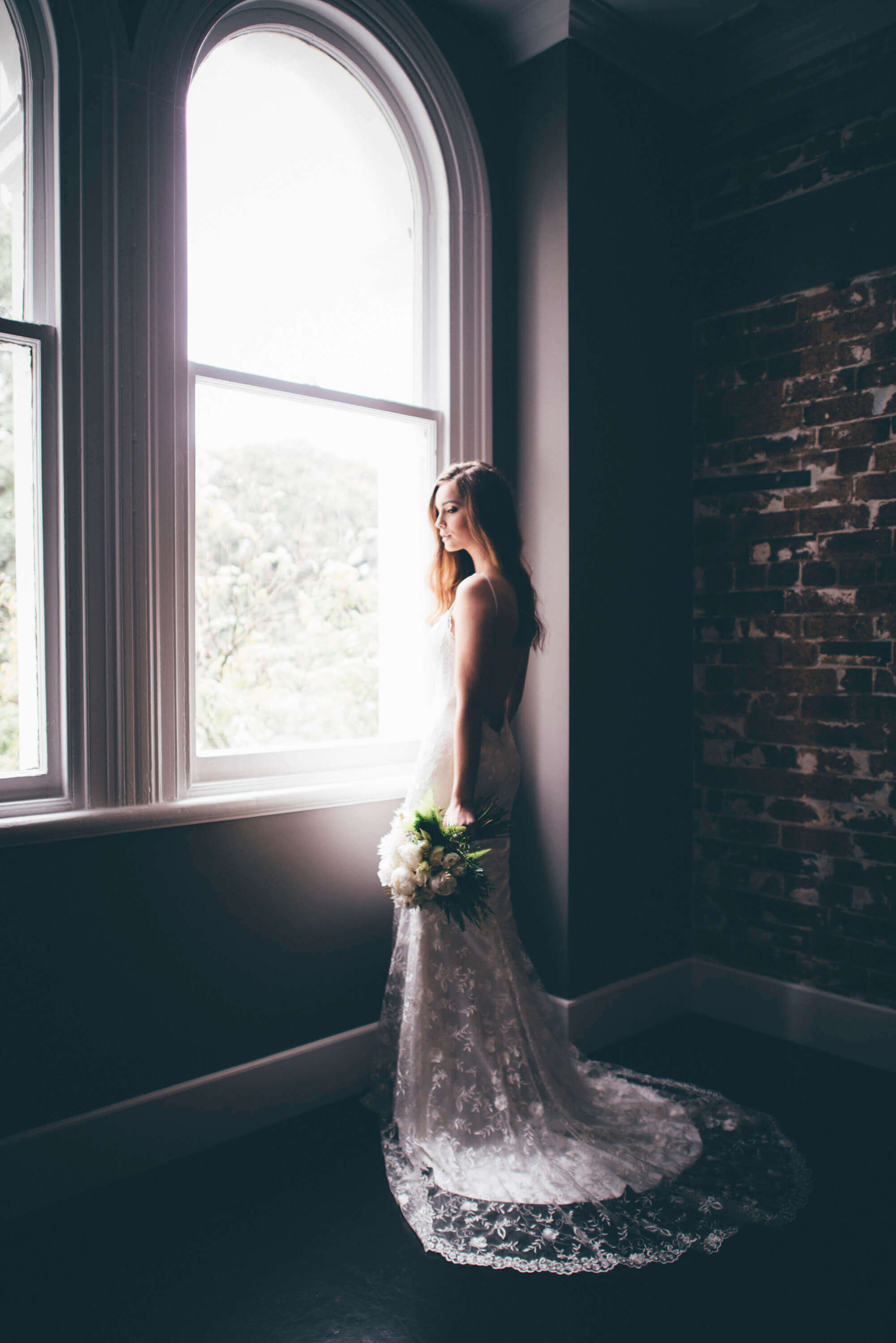 Weddings at the Transcontinental Hotel | brick wall